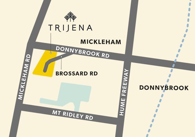 Trijena - Map